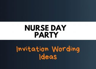 Nurse Day Party Invitation Wording