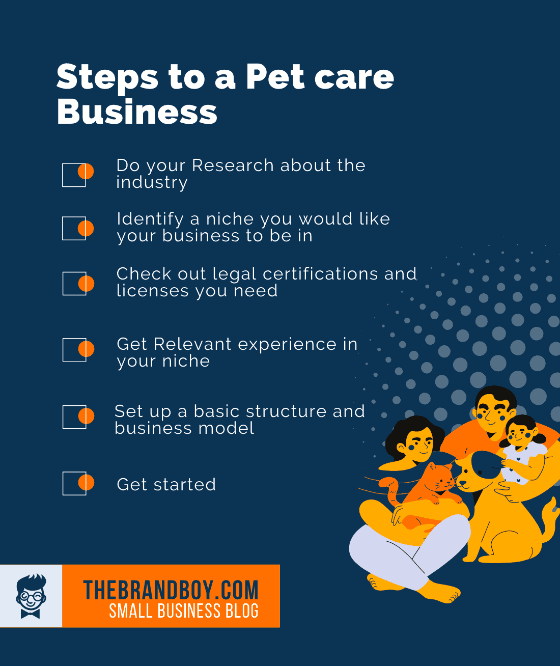 steps to start pet business