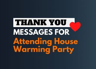 Thank you for Attending House Warming Party