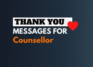 thank you messages for counselor