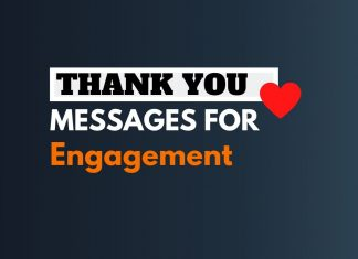 Engagement Thank you Messages