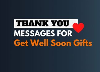 Thank you messages for Get Well Soon Gifts