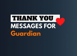 thank you messages for guardian