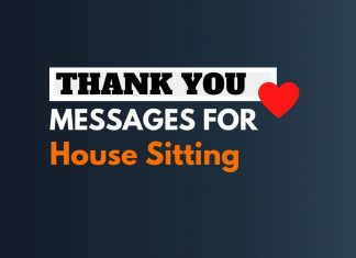 Thank you Messages for House Sitting