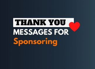 Thank you messages for Sponsorship