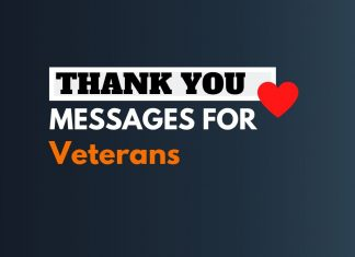Thank You Messages for Veterans