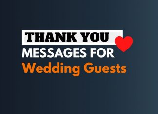 Thank You Messages For Wedding Guests