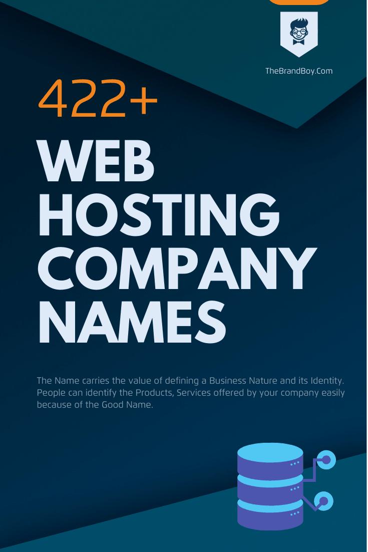 248 Good Web Hosting Company Names Ideas Video Infographic