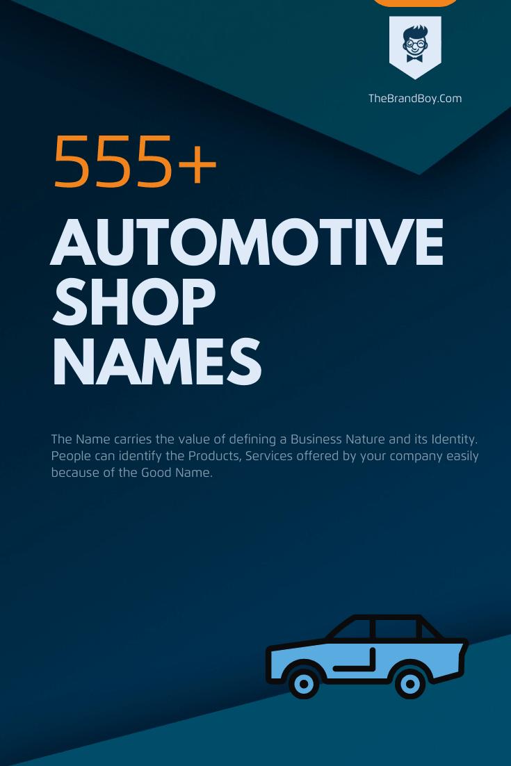 481 Creative Automotive Shop Names Video Infographic