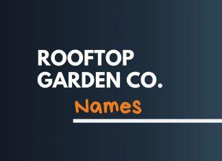 Rooftop Garden Business Names