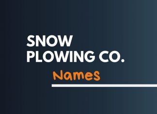 Snow Plowing Business Names