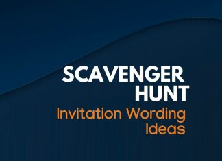 Scavenger Hunt Invitation wordings