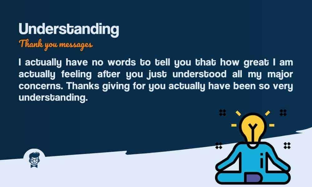41 Best Thank You Messages For Understanding Thebrandboy Com