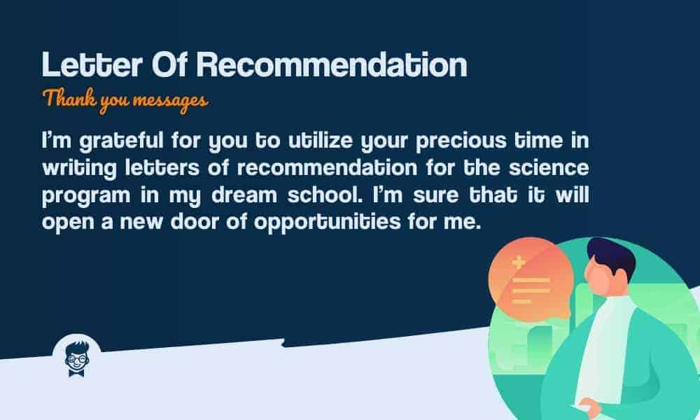 Thank You For Writing Letter Of Recommendation from thebrandboy.com