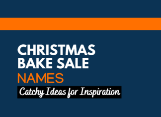 Christmas bake sale names