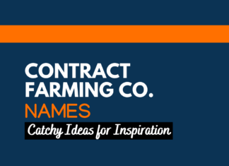 Contract Farming Business Names