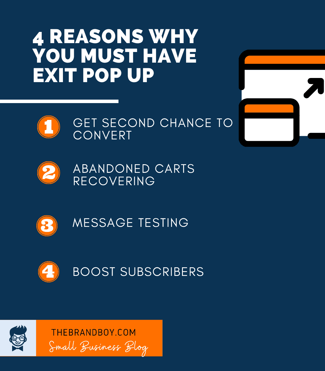 reasons why must have exit popup