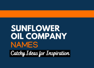 Sunflower oil Business names