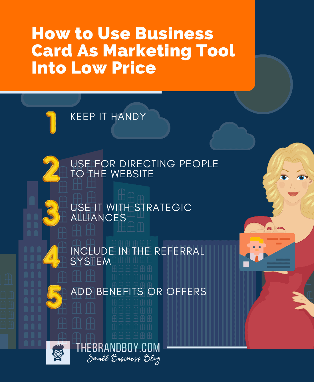 business card as marketing tool