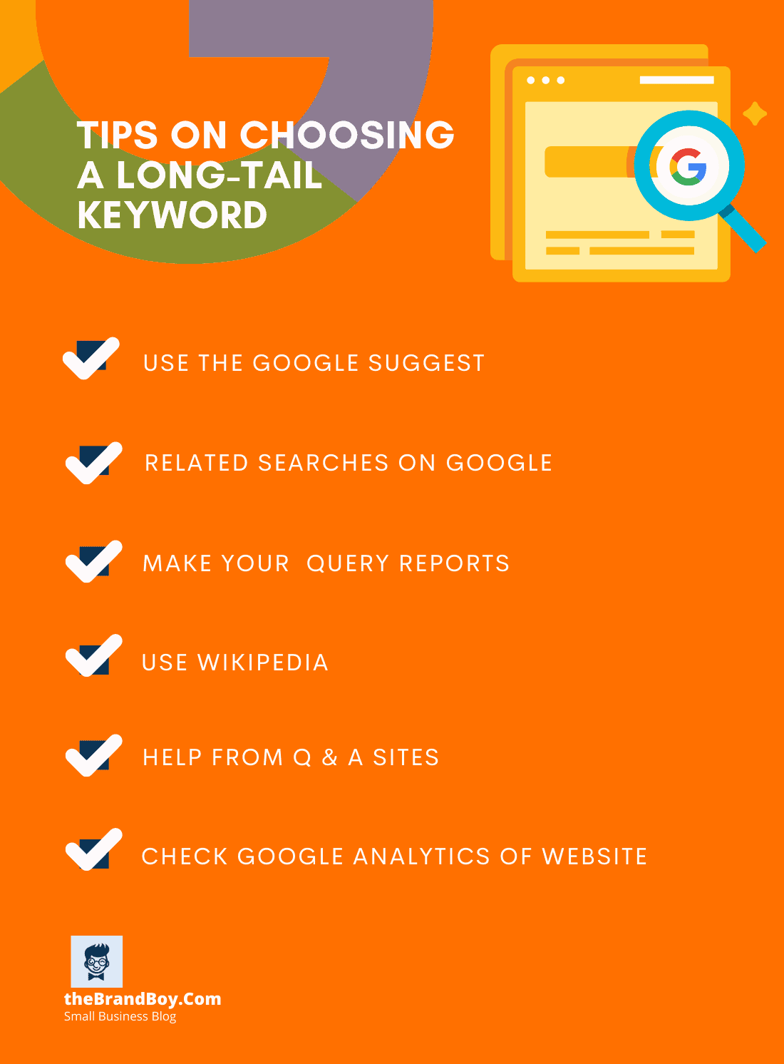 how choose long tail keyword small business