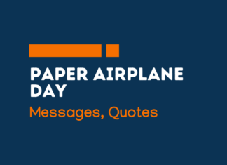 paper airplane day messages