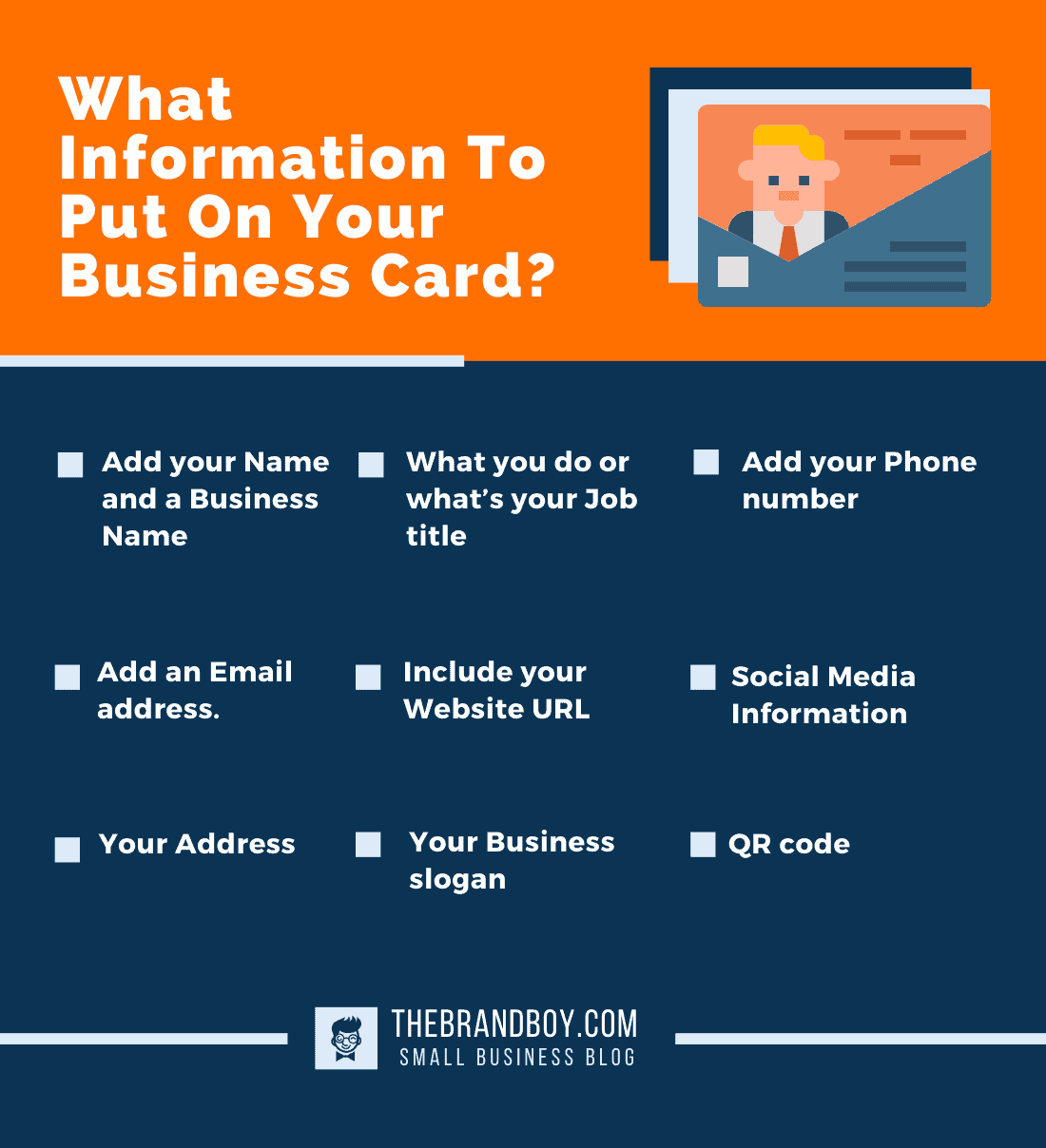 what information put on business card