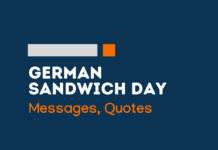 german sandwich day messages