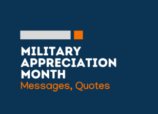 military appreciation month messages
