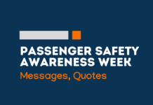 passenger safety awareness week messages
