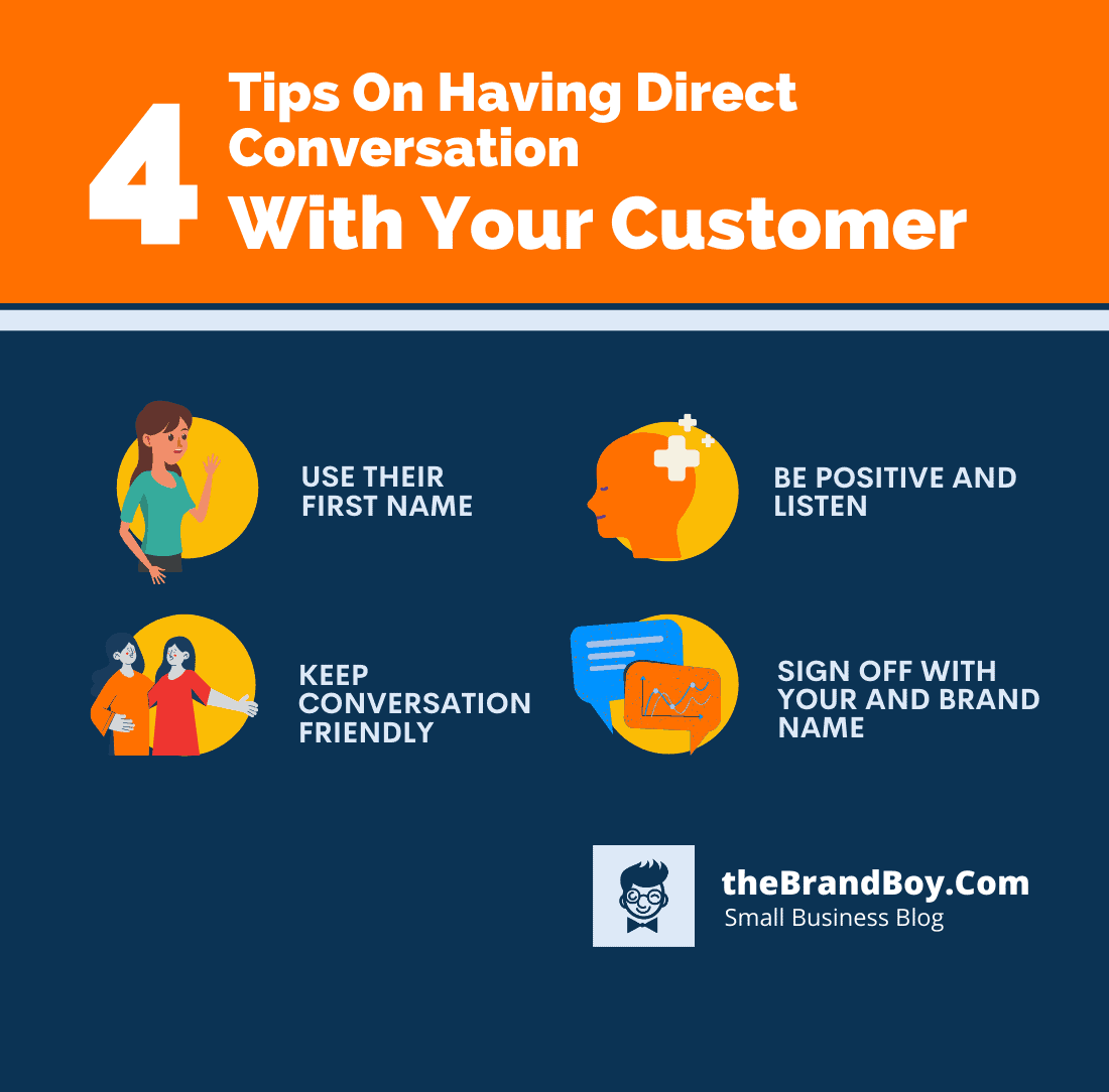 tips direct conversation with customers