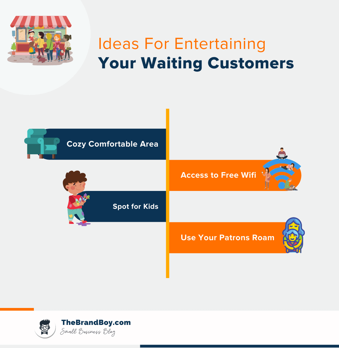 entertaining ideas for waiting customers